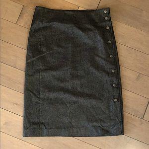 Hennes gray shimmer pencil skirt